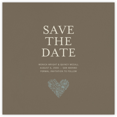 Clay (Save the Date) - Paperless Post - Online Party Invitations