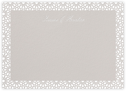 Rabat (Stationery) - White/Oyster - Paperless Post - Personalized Stationery