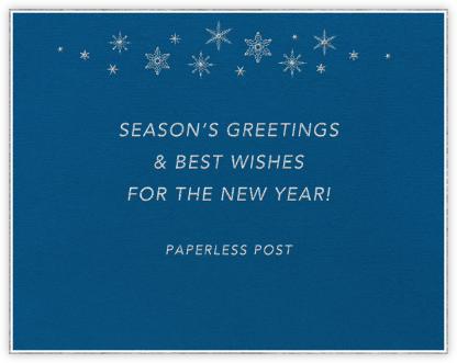 Snowflakes (Indigo Blue) - Paperless Post -