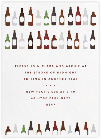 99 Bottles - Paperless Post - New Year's Eve Invitations