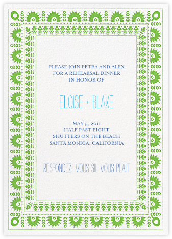A Splendid Dutch Pot - Lime - Mr. Boddington's Studio - Engagement party invitations
