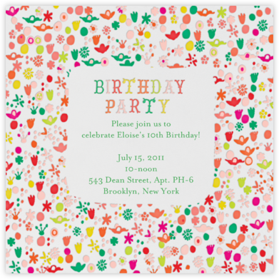 A Stroll in the Gardens - Birthday - Mr. Boddington's Studio - Online Kids' Birthday Invitations