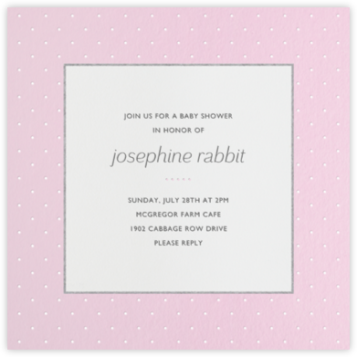 Airy Dots - Blush - Paperless Post - Baby Shower Invitations