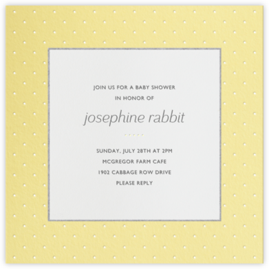 Airy Dots - Buttercup - Paperless Post - Baby Shower Invitations