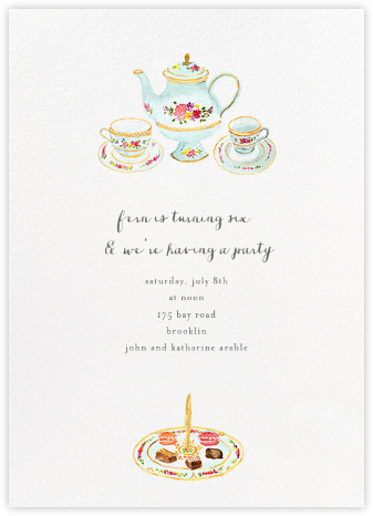 Petits Fours Secs - Paperless Post - Kids' Birthday Invitations