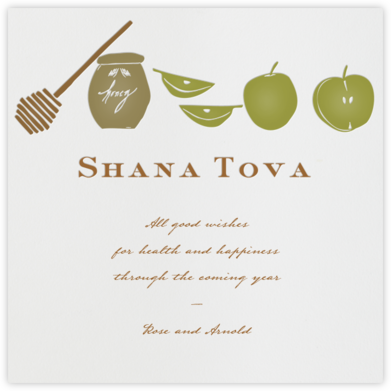 Apples and Honey - Paperless Post - Rosh Hashanah Cards