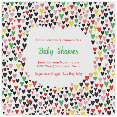 Baby Love - Black - Mr. Boddington's Studio - Baby shower invitations