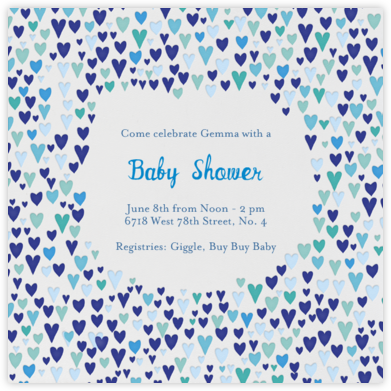 Baby Love - Blues - Mr. Boddington's Studio - Online Baby Shower Invitations