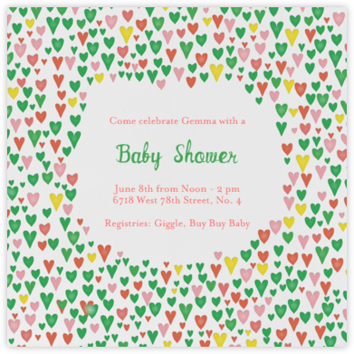 Baby Love - Lagoon - Mr. Boddington's Studio - Baby Shower Invitations