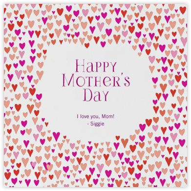 Baby Love - Pinks - Mr. Boddington's Studio - Mother's Day Cards