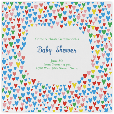 Baby Love - Primaries - Mr. Boddington's Studio - Baby shower invitations