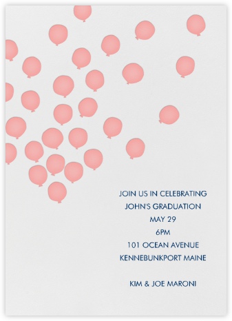 Balloons - Blossom - Linda and Harriett - Adult Birthday Invitations