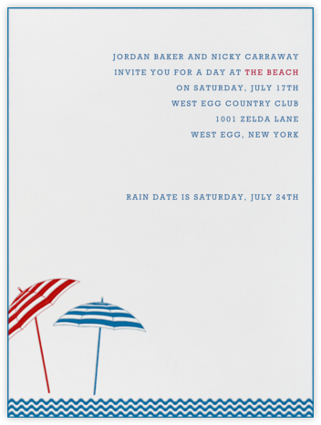 Beach Umbrellas - Paperless Post - Summer entertaining invitations