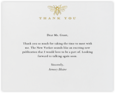 Bee Thank You - White - Paperless Post - Online greeting cards