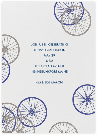 Bike Wheels - Linda and Harriett - Summer Party Invitations