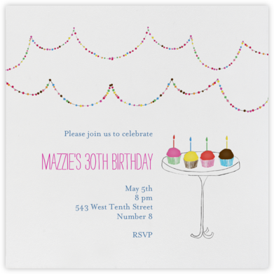 Blow Out the Candles - Mr. Boddington's Studio - Birthday invitations