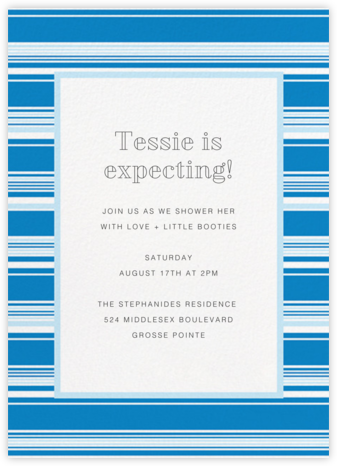 Hyannis - Electric Blue - Paperless Post - Baby Shower Invitations