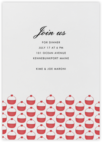 Bobber Pattern - Linda and Harriett - Summer entertaining invitations