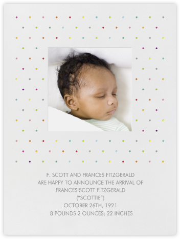 Polka Dots - bluepoolroad - Birth announcements