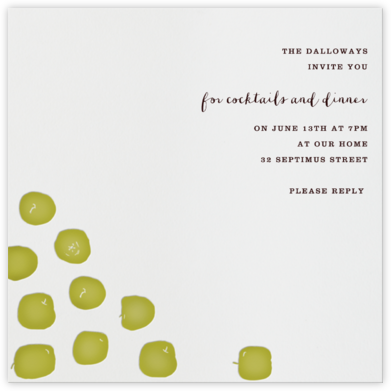 Braeburn (green) - Paperless Post - Invitations