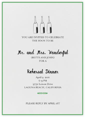 Bubbly for All (Great Scot) - Mr. Boddington's Studio - Rehearsal dinner invitations