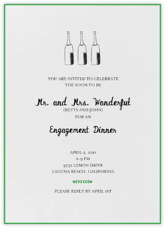 Bubbly for All (Great Scot) - Mr. Boddington's Studio - Engagement party invitations