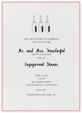 Bubbly for All (Guava) - Mr. Boddington's Studio - Engagement party invitations