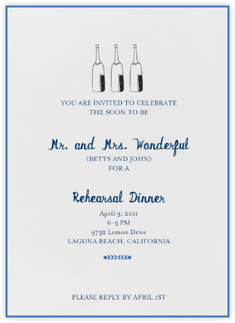 Bubbly for All (Royal) - Mr. Boddington's Studio - Wedding Weekend Invitations