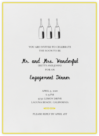 Bubbly for All (Sunshine) - Mr. Boddington's Studio - Engagement party invitations