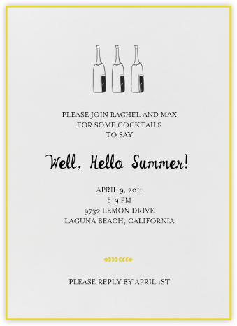 Bubbly for All (Sunshine) - Mr. Boddington's Studio - Summer Party Invitations