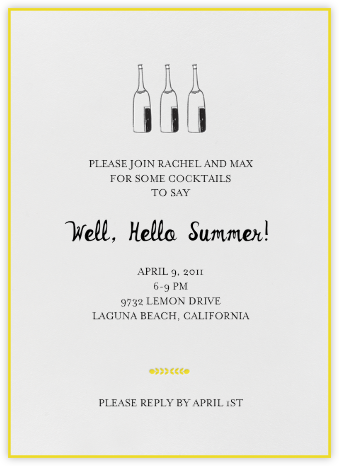 Bubbly for All (Sunshine) - Mr. Boddington's Studio - Summer entertaining invitations