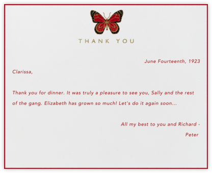 Butterfly Thank You - Paperless Post - Online greeting cards