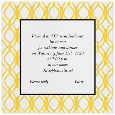 Cadogan Yellow Square - Paperless Post - Business event invitations