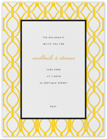 Cadogan Yellow Vertical - Paperless Post - Reception invitations
