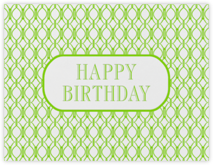 Cadogan (Leaf Green) - Paperless Post - Birthday Cards