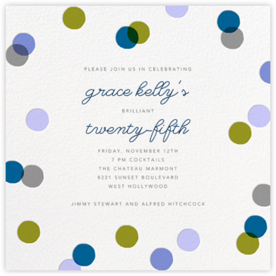 Carnaby - Blue - Paperless Post - Adult Birthday Invitations