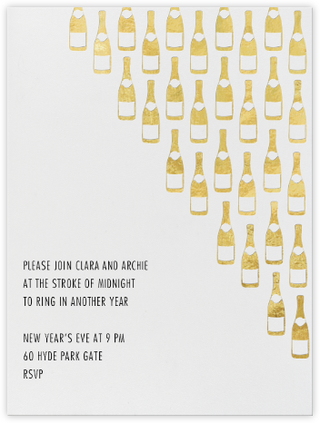 Champagne Gold (ivory) - Paperless Post - New Year's Eve Invitations