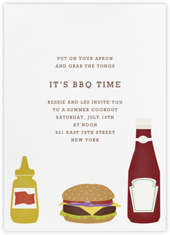 Cheeseburger - Paperless Post - Invitations