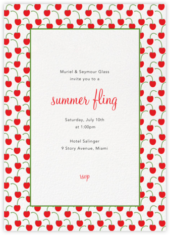 Cherries (Tall) - Paperless Post - Summer entertaining invitations