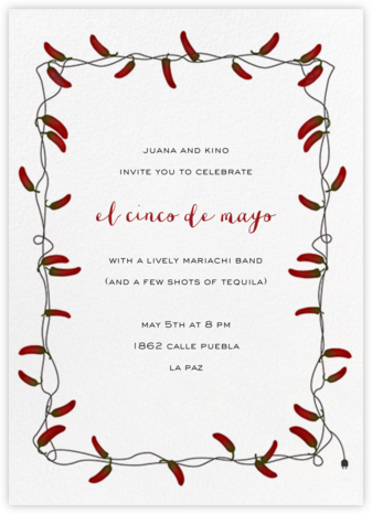 Chili Peppers - Paperless Post - Cinco de Mayo Invitations