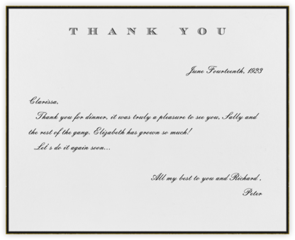 Classic Thanks (Black) - Paperless Post - Online thank you notes