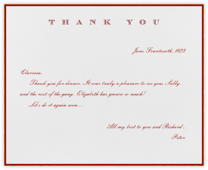 Classic Thanks (Crimson) - Paperless Post - Online greeting cards