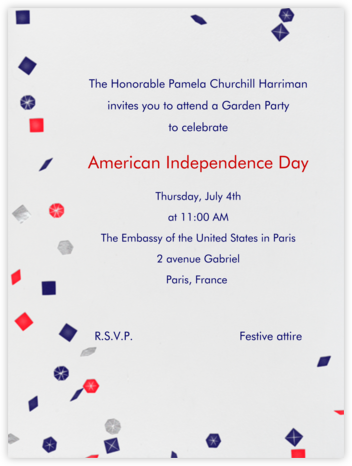 Confetti - Paperless Post - 4th of July invitations