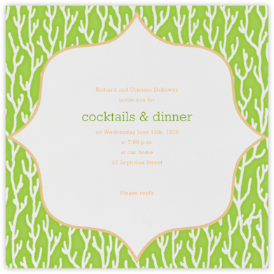 Coral - Charterhouse  - Paperless Post - Summer entertaining invitations