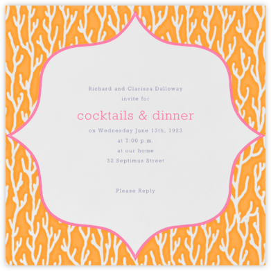 Coral - Orange - Paperless Post - Summer entertaining invitations