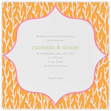 Coral - Sea Blue - Paperless Post - Summer Entertaining Invitations