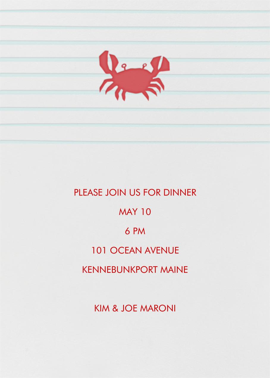 Crab - Linda and Harriett - Summer entertaining invitations