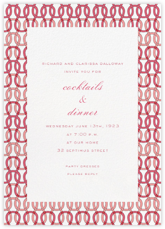 Crochet - Pink - Paperless Post - Business event invitations