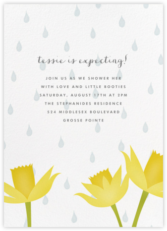 April Showers - Paperless Post - Baby Shower Invitations