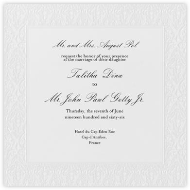 Damask - Ivory Blind Embossed (Border) - Paperless Post - Online Wedding Invitations